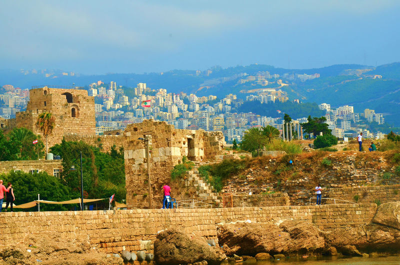 Ancient Architecture Blue Built Structure Byblos Byblos,Lebanon Casual Clothing Day Famous Place History Landscape Leisure Activity Lifestyles Mountain Nature Outdoors Rock - Object Rock Formation Sky Tourism Tourist Travel Destinations