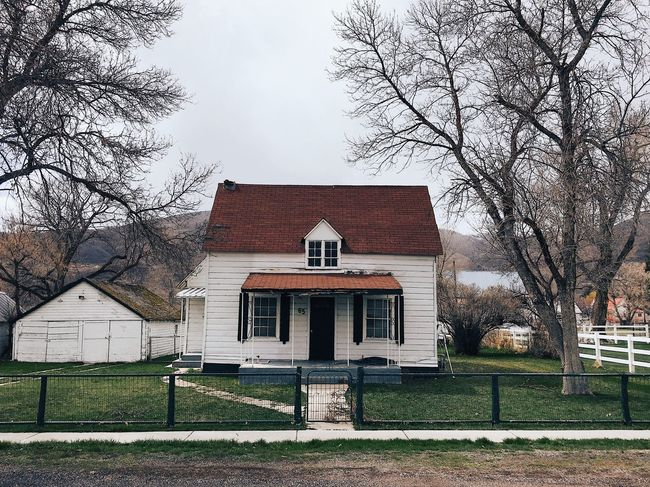 old simple home in midway. Midway, Utah Architecture Built Structure Building Exterior Building Sky Plant Day