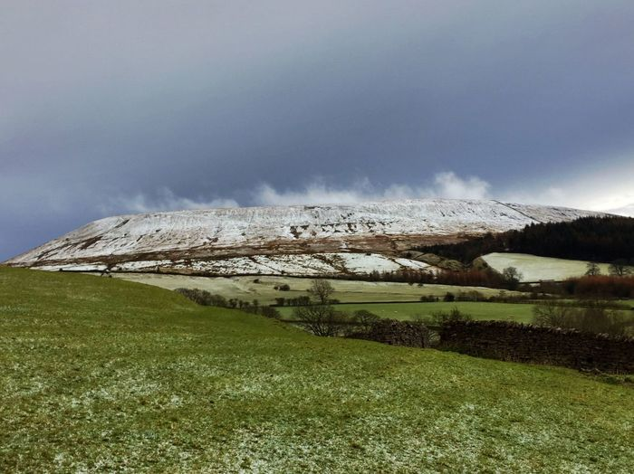 Pendle Hill after a hail storm Beauty In Nature Cloud Cloud - Sky Cloudy Day Field Grass Grassy Green Color Hailstorm Hill Hilltop Landscape Mist Nature Non-urban Scene Overcast Rural Scene Scenics Sky Snowy Day Snowy Hills Tranquil Scene Tranquility Weather