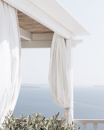 Day No People Sea Nature Curtain Water Outdoors Scenics Clear Sky Close-up Whitewashed Beauty In Nature Sky The Week On EyeEm EyeEmNewHere Santorini, Greece Santorini Greece
