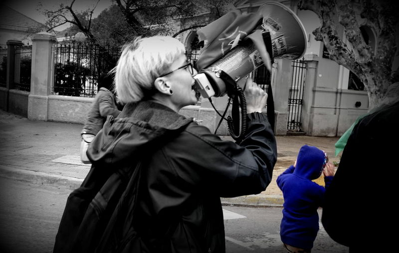 Woman Blackandwhite Photography Black & White Blackandwhite Black And White Feminist Protest Outdoors MiercolesNegro Rain
