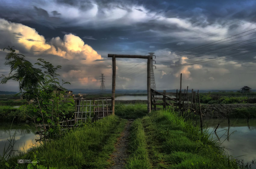 Door dream taken by nokia n8-00Cloud - Sky Nature Landscape_photographyTree Landscape_Collection Landscape Nature Sunrise Sunset Sky Dramatic Sky Sky And Clouds Storm Cloud Dramatic Sky Tranquility Grass No People Outdoors Extreme Weather Water Storm Beauty In Nature Day