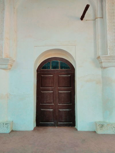 Old Mosque Doorway Antique Arch Door Wood - Material History Entrance Ornate Closed Architecture Front Door Closed Door