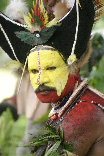 Papua New Guinea - Tribal dancer Animal Themes Cannibalism Celebration Close-up Day Domestic Animals Highlander Human Body Part Human Hand Livestock Mammal National Dress Nature One Animal Outdoors Papua New Guinea Real People Scary Trip Yellow Face Let's Go. Together. EyeEmNewHere