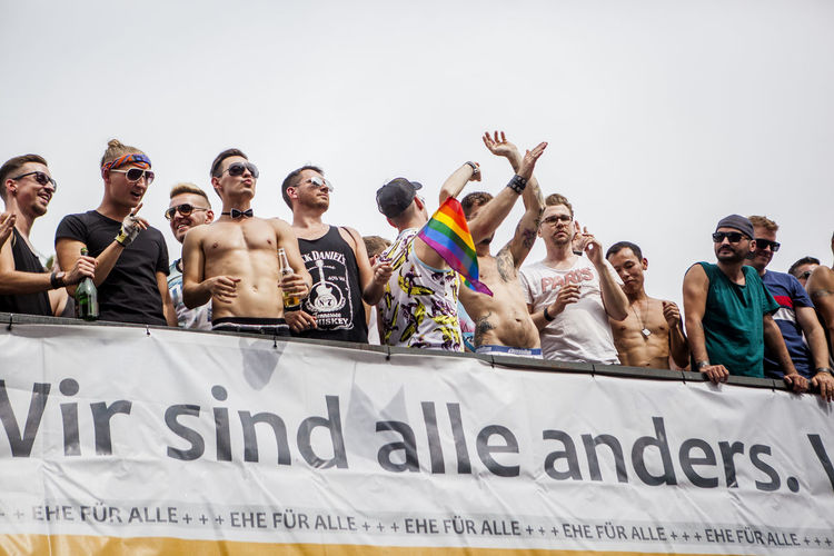 Pride Festival Berlin Berlin Casual Clothing CSD Day Enjoyment Fun Information Leisure Activity Lifestyles Outdoors People Pride Side By Side Teamwork