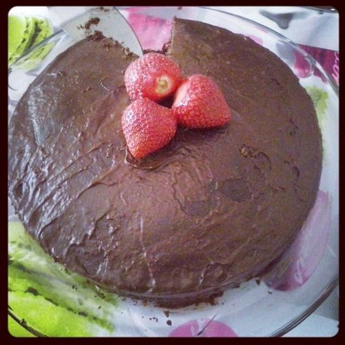 Vegan Chocolatcake that I made yesterday! Sweets