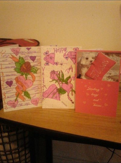 My Valentine Day Cards Frm My Boo Made My Day Yesterday