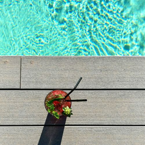 Swimming Pool Red Water Real People One Person Outdoors Day Pool Time Pool Party Pool Pool Day  Mojito! Strawberry Strawberry Mojito Summer Summertime Holiday Holidays Hotel Fresh On Market 2016