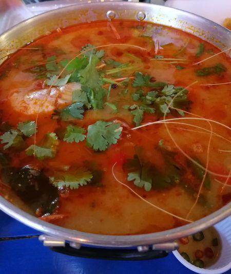 Tom Yum Seafood - Thai Spicy Shrimp Soup Tom Yum Seafood Tom Yum Goong Tom Yum Kung Taste Thai Food