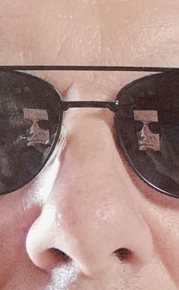 Looking at you Sunglasses Reflection Intimidating Spa Body Care Wellbeing Close-up Wearing