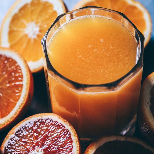 Frisch Gepresst Breakfast Drink Fresh Glass Juice Liquid Lunch Orange Refresh Saft  Sunday Morning Vitamins
