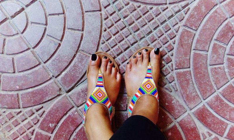 Hanging Out Colorsplash Sandals Nailporn