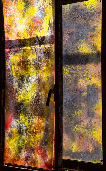 Historical And Technical Museum Architecture Backgrounds Close-up Day Entrance Full Frame Glass - Material Indoors  Metal Multi Colored No People Pattern Rusty Textured  Textured Effect Window Wood - Material