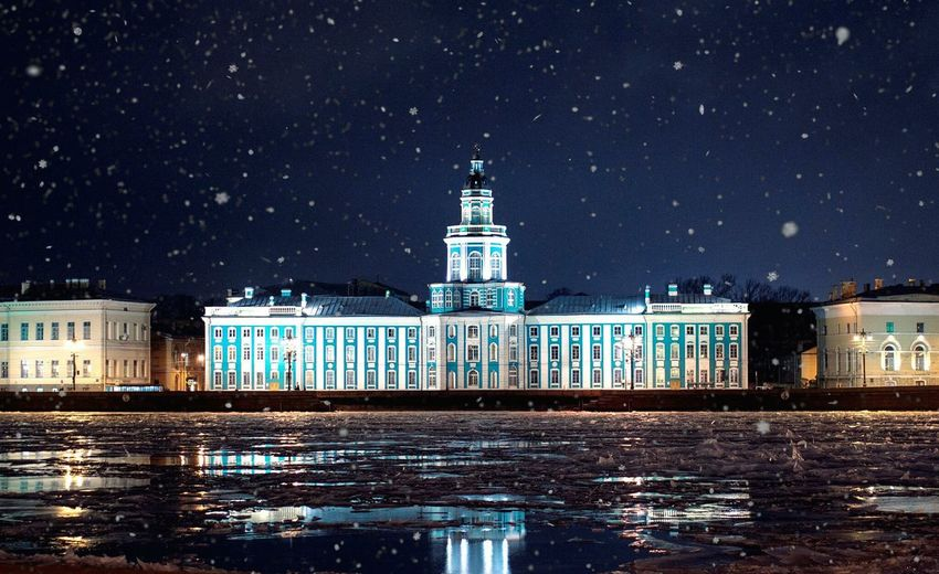 EyeEm Selects Night Architecture Building Exterior Star - Space Sky Water Built Structure Lighthouse Politics And Government Astronomy Nature Illuminated City Snow No People Outdoors Sea Winter