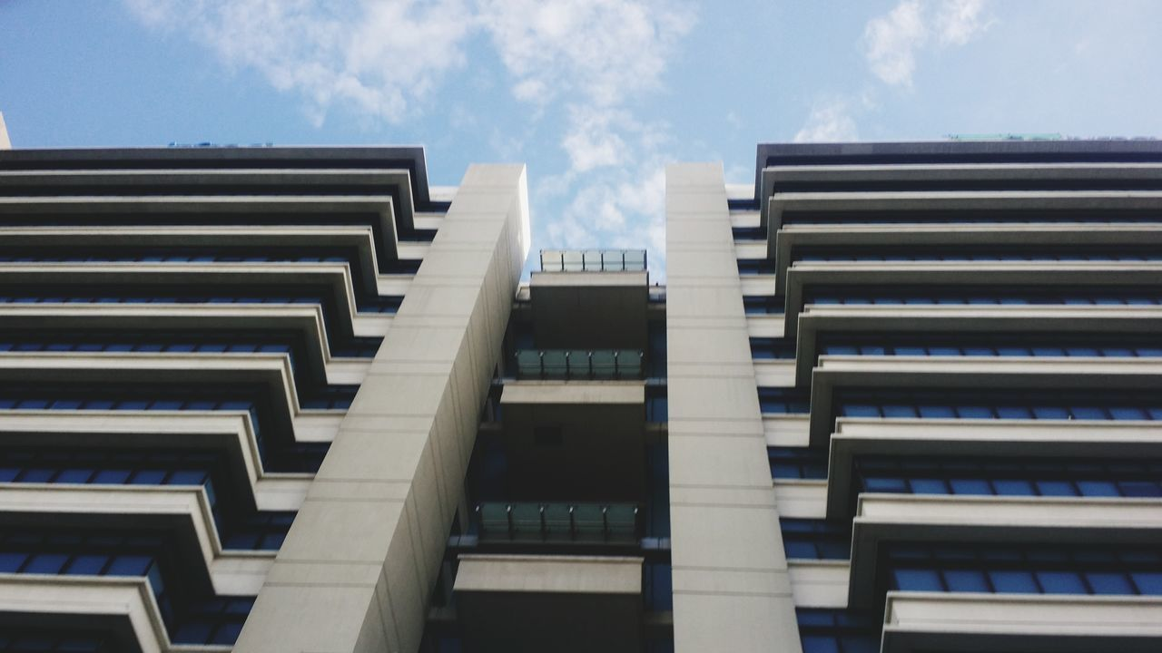 architecture, building exterior, built structure, low angle view, outdoors, day, no people, city, sky