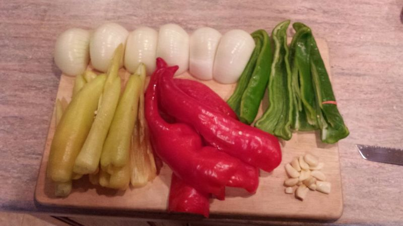 canann peppers ond onions for the winter hell ya