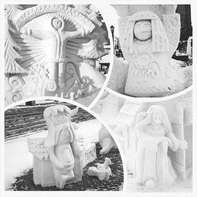 снег фестиваль зима скульптура Snow Winter Art Street Sculpture Novosibirsk