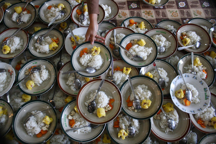 Ramadan in Indonesia. Food And Drink Food Freshness High Angle View Wellbeing Indoors  Table Healthy Eating Choice Variation Ready-to-eat Directly Above Still Life No People Bowl Plate Seafood Side By Side Large Group Of Objects Arrangement