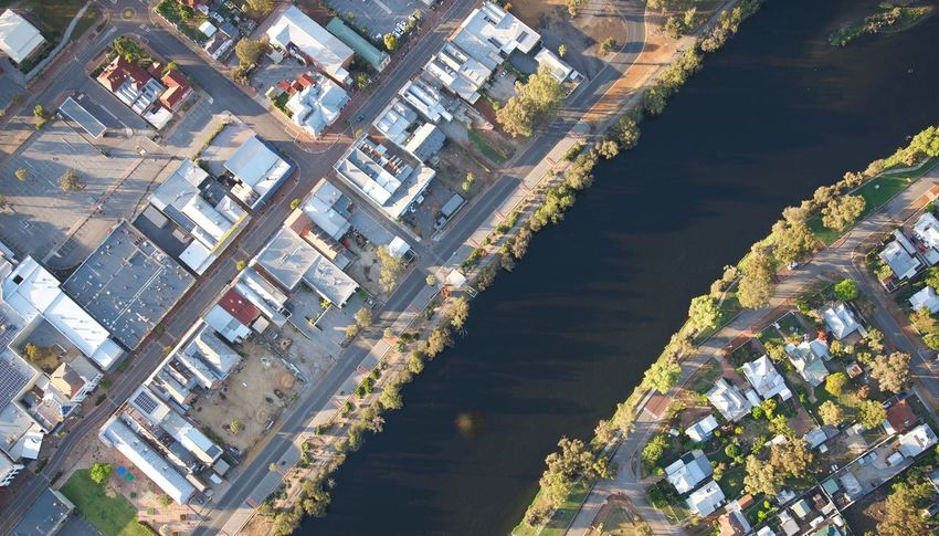 Building Exterior City Architecture Built Structure Building Cityscape High Angle View Aerial View Residential District Office Building Exterior Water No People Day River