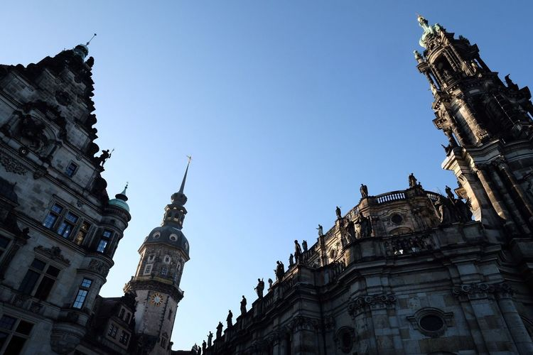 Low angle view of old buildings in dresden