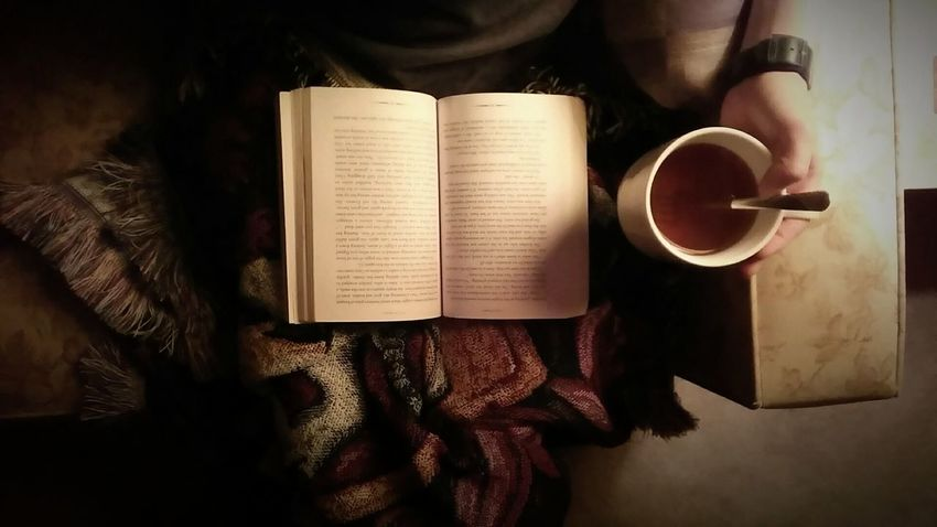 Rainynights Reading Book Tea Harrypotterblanket Check This Out