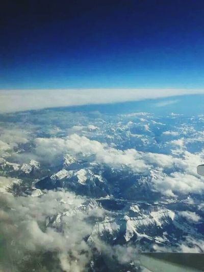 Take me back there! Hello World Sky And Clouds AirPlane ✈ From SLOVEnia With Love