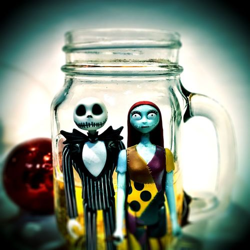 Couples Everybody Odd Couples Nightmare Before Christmas Jar Indoors  No People Close-up Food Day