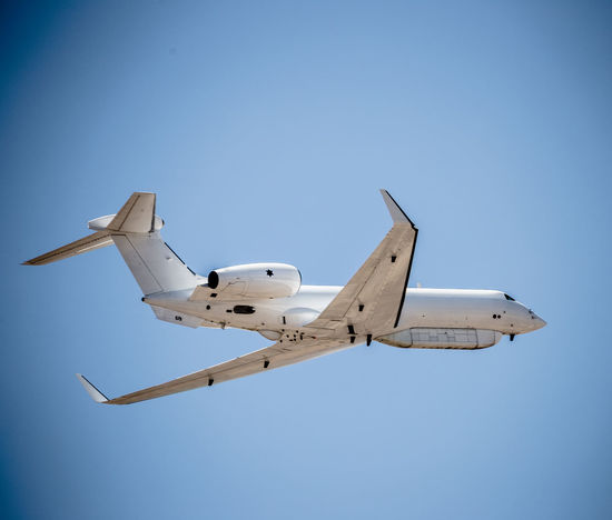 Air Vehicle Airplane Aviation Blue Clear Sky Day Flight Flying G-550 Gulfstream Israeli Air Force Low Angle View Mid-air Mode Of Transport No People Outdoors Sky Transportation
