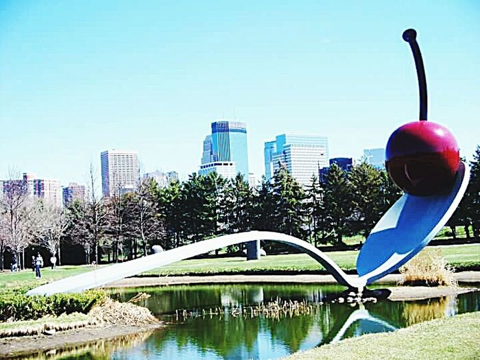 Minneapolis Sculpture Garden Spoonbridge And Cherry Fountain Urbanexploration Urbanphotography Twin Cities City Life Skyscrapers