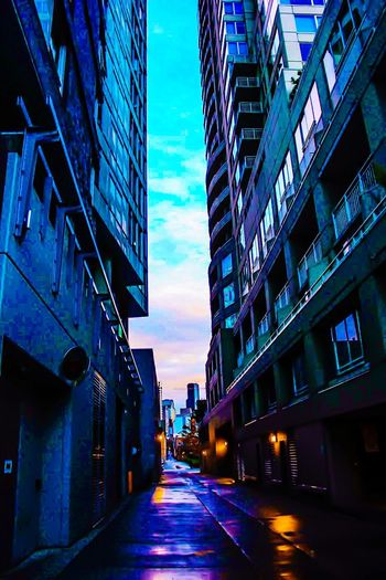 Alley Post Alley Seattle View From The Bottom Looking Out Vibrant Colors