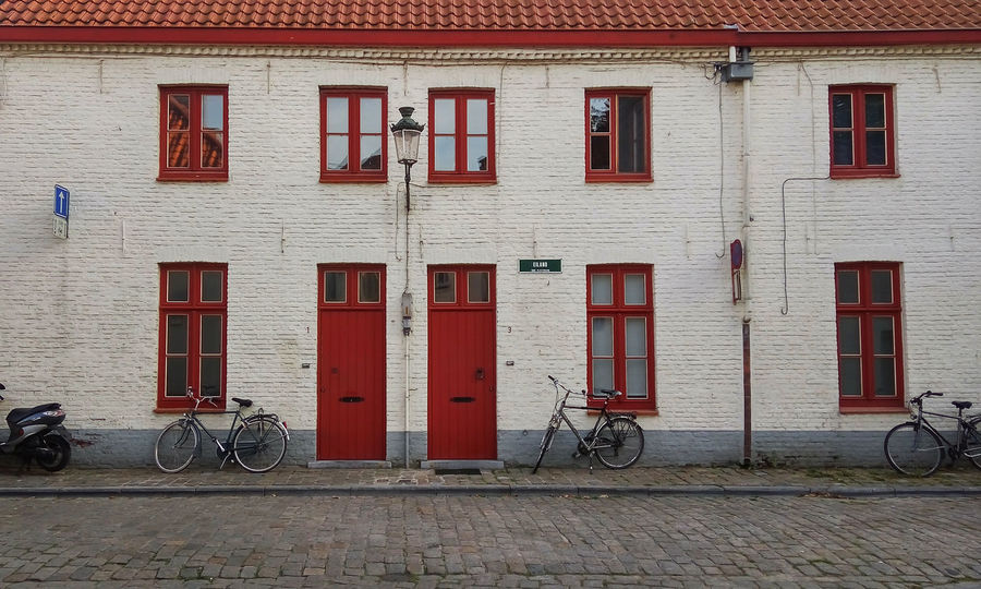 Architecture Belgium Bicycle Brugge Building Exterior Built Structure City Day Land Vehicle Mode Of Transport No People Outdoors Stationary Street Transportation Travel Window The Architect - 2017 EyeEm Awards BYOPaper!
