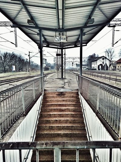 Waiting for the train to nowhere Train Station Tristesse Architecture Structure