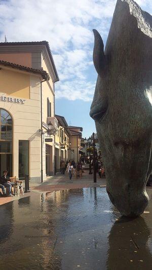 Sculpture Serravalle Italy Architecture Statue Italy Serravalle Horse