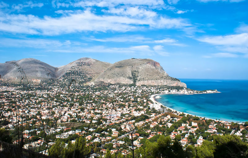 Panoramic view of the mondello's gulf. Palermo- Sicily Landscape_Collection Palermo Palermo, Italy Beauty In Nature Blue Cloud - Sky Day Gulf Horizon Over Water Landscape Mondello Mondellobeach Mountain Nature No People Outdoors Palermo Shooting Scenics Sea Sky Tranquil Scene Tranquility Tree Water