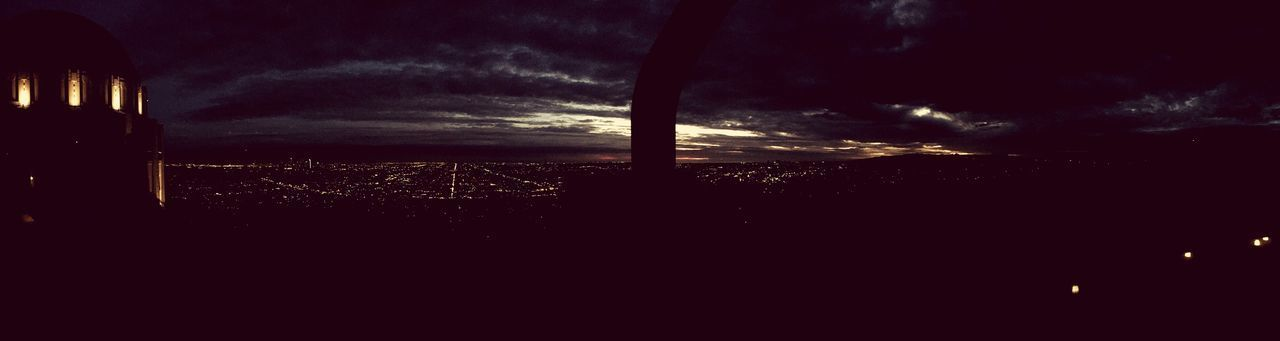 Los Angeles at night from atop observatory grounds Cloud - Sky Weather No People Nature Cityscape Silhouette