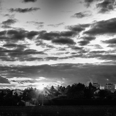 Sunset in BW
