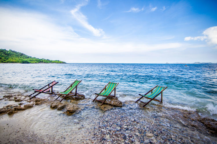 take a rest Destiny Vacation Time Beauty In Nature Benches Day Destination Horizon Over Water Nature No People Outdoors Restaurant Resting Scenics Sea Sky Tranquil Scene Tranquility Water