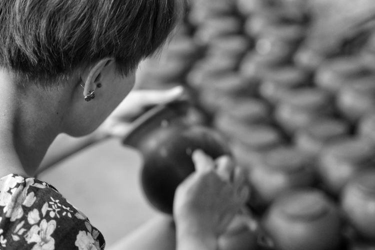 Thailand Photos Thailandtravel Pottery Art Hand Potter Child Childhood Males  Boys Headshot Shoulder Human Face Human Eye Close-up