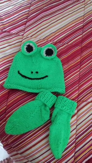 Handmade For A Baby Sweet Little Its Not So Good Frog Big Eyes Green