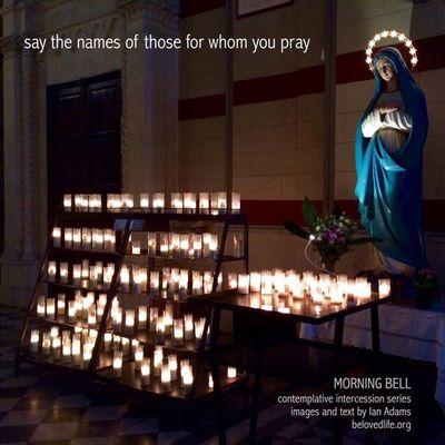 No28 in series 'in our prayers (contemplative intercession)' Cortona Contemplation Shrine Stillness Prayer Santamaria Candle