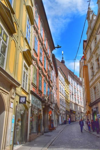 Winding ... Architecture Building Exterior Built Structure Street Day Sky Window The Way Forward Low Angle View Outdoors No People Pedestrian Zone Graz Austria