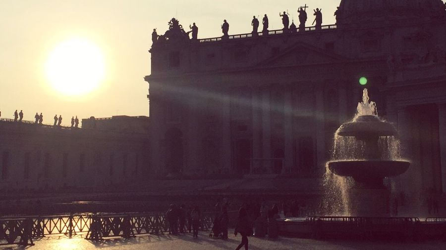 Battle Of The Cities Basilica Of St.Peter VaticanCity Sunset Sunrise Plaza First Eyeem Photo