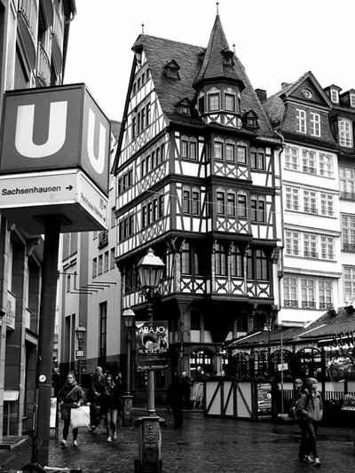 Historical Building Old Meets New Ubahn Cobblestone Black And White Photography Black And White Collection  Monochrome Shopping Architecture_bw Historic City Up Close Street Photograpy From Where I Stand Check This Out Up Close With Street Photography Streetphotography