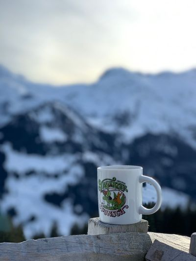 Kleine Pause in den Bergen Likeforlike Like4like Jagertee Pause Love Holiday Cup Mountain Focus On Foreground Mug No People Food And Drink Sky Nature Drink Outdoors