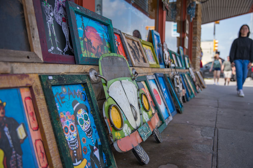 Artist Modern Travel Architecture Art Blue Sky Car Choice Close-up Day Daylight Frame Market Multi Colored Painting Street Streetphotography Summer Variation Walking