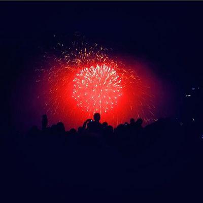 CANADA!!!!!!!;^; Canada Canadaday Fireworks Epic Red Smoke Niagrafalls Batman
