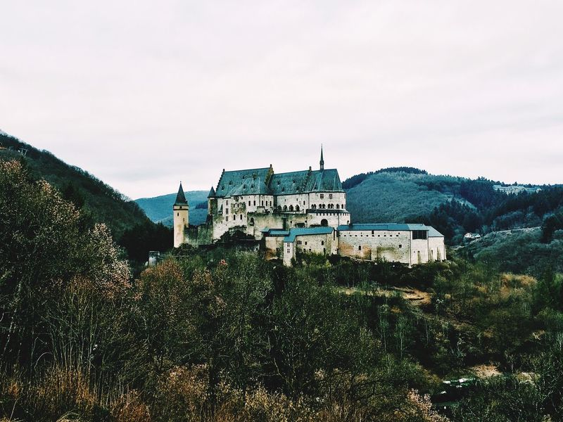 Architecture Tree Building Exterior Built Structure Sky No People Growth Nature Outdoors Mountain Scenics Day Beauty In Nature Luxembourg Castle Château Burg Vianden Vianden Castle Winter History Medieval Moyen âge Luxembourg_Collection Luxemburg