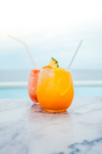 Beach Beauty In Nature Close-up Cocktail Day Drink Drinking Straw Food Food And Drink Freshness Healthy Eating Horizon Over Water Nature No People Outdoors Sea Sky Sunset Water
