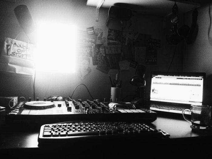 I fucking love my room! Relaxing Monochrome Blackandwhite Enjoying Life