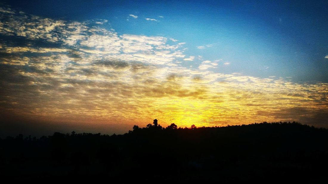 Sunset's with a hope to rise again.. Taking Photos Photography Dehradundiaries Bidholi First Eyeem Photo Sunrise Silhouette
